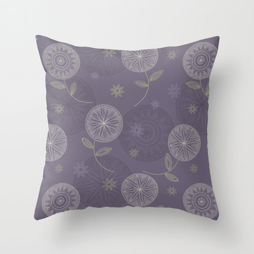 Folky Lace Flowers_pillow