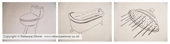 Bath_Shower_Toilet Sketches