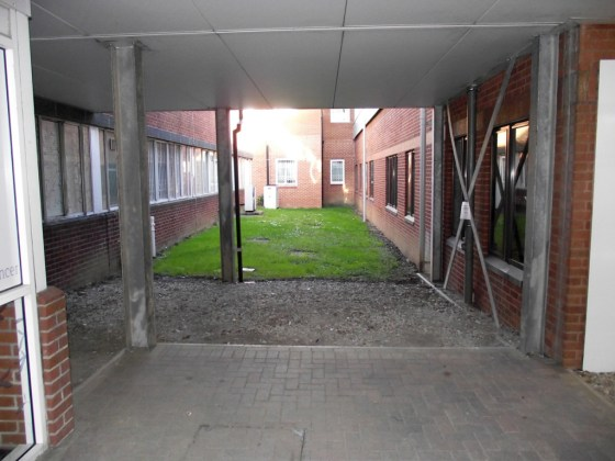 Courtyard space before