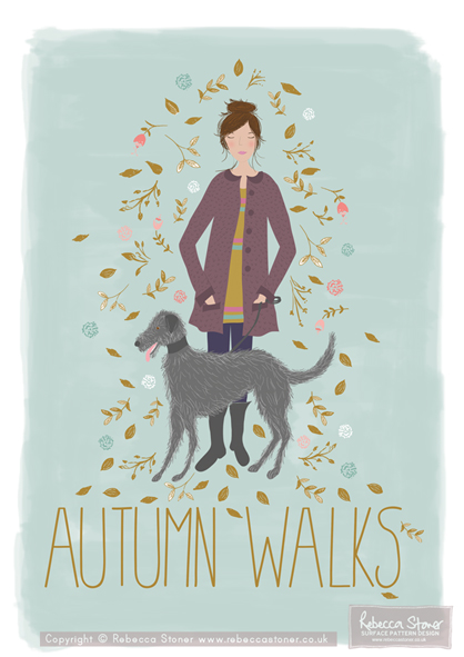 """Autumn Walks"" by Rebecca Stoner www.rebeccastoner.co.uk"