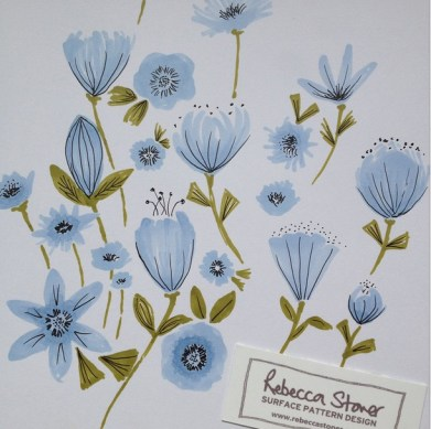 Blue Flowers by Rebecca Stoner www.rebeccastoner.co.uk