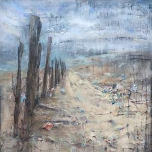 """Windblown"", oil on canvas, 36"" x 36"""