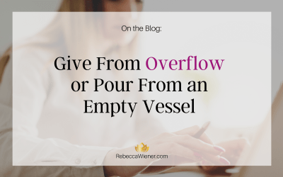 Give from overflow or pour from an empty vessel?