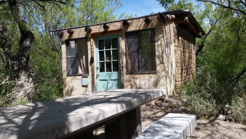 High winds kept us from camping - we opted for this casita over a full cabin.