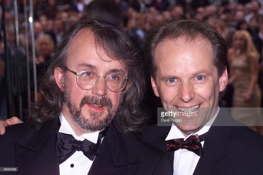 From left to right: Peter Lord and Nick Park