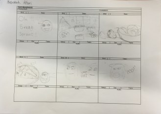 Oh Brett Sprout! storyboard