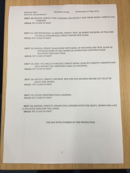 Page 2: animation script