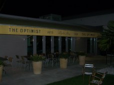 The Optimist has indoor and outdoor seating.