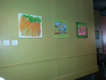 The featured wall art was created by Georgia Southern University's Art Department.