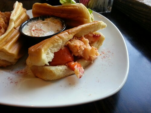 Fried lobster was the most interesting. I liked the texture and crunch paired with the succulent meat.