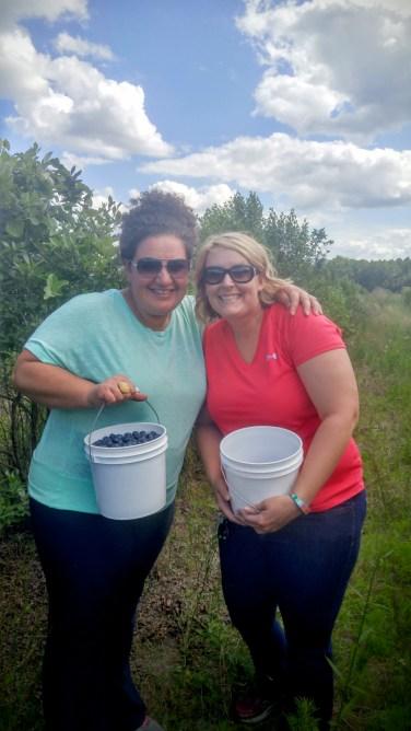 Blueberry pickin' friends!