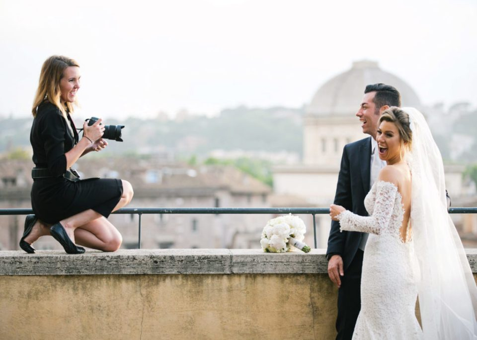 photographing a wedding in Rome