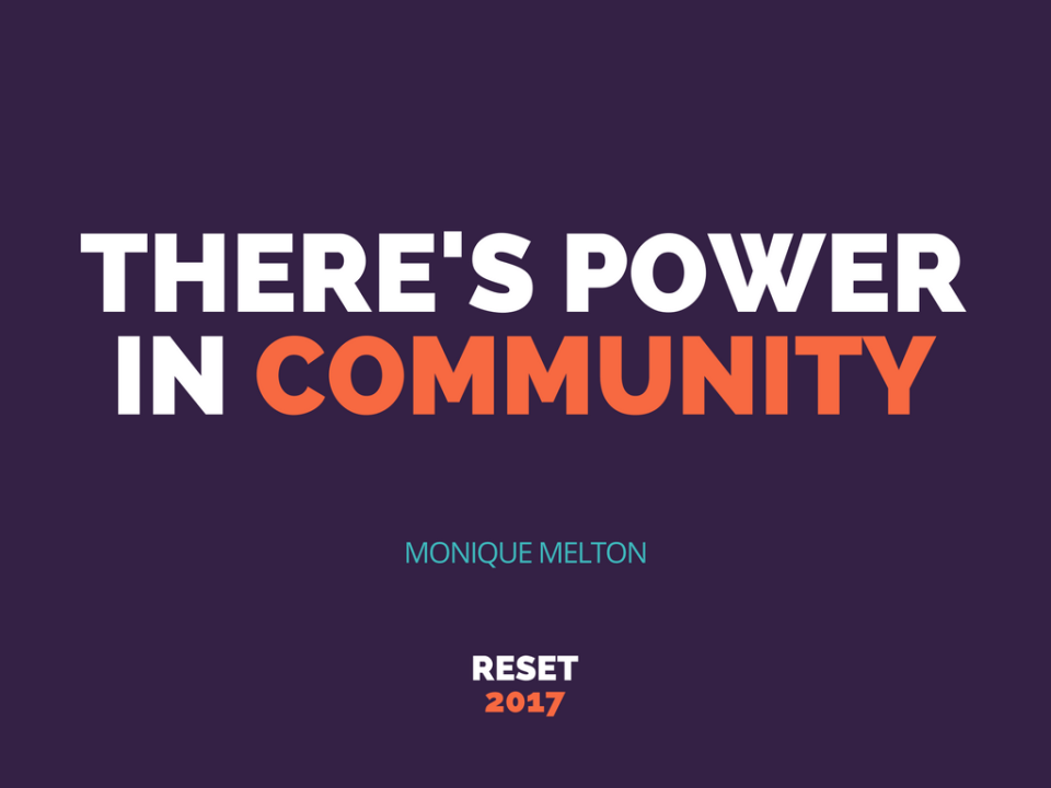 power in community monique melton