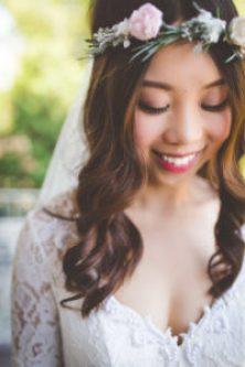 romantic bridal floral crown image