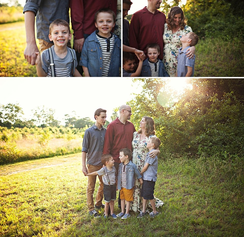 sunset golden hour family photos
