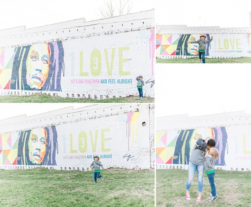 one love marley mural