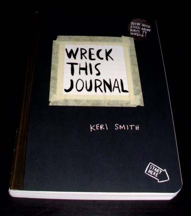 Starting with Wreck This Journal. Here, it is still pristine.