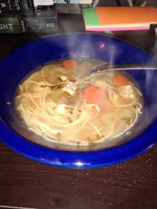 Homemade chicken noodle soup, mmm!