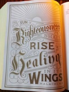 ESV Illuminated Bible, Malachi 4:2 verse illustration