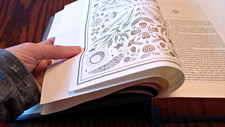 ESV Illuminated Bible page thickness