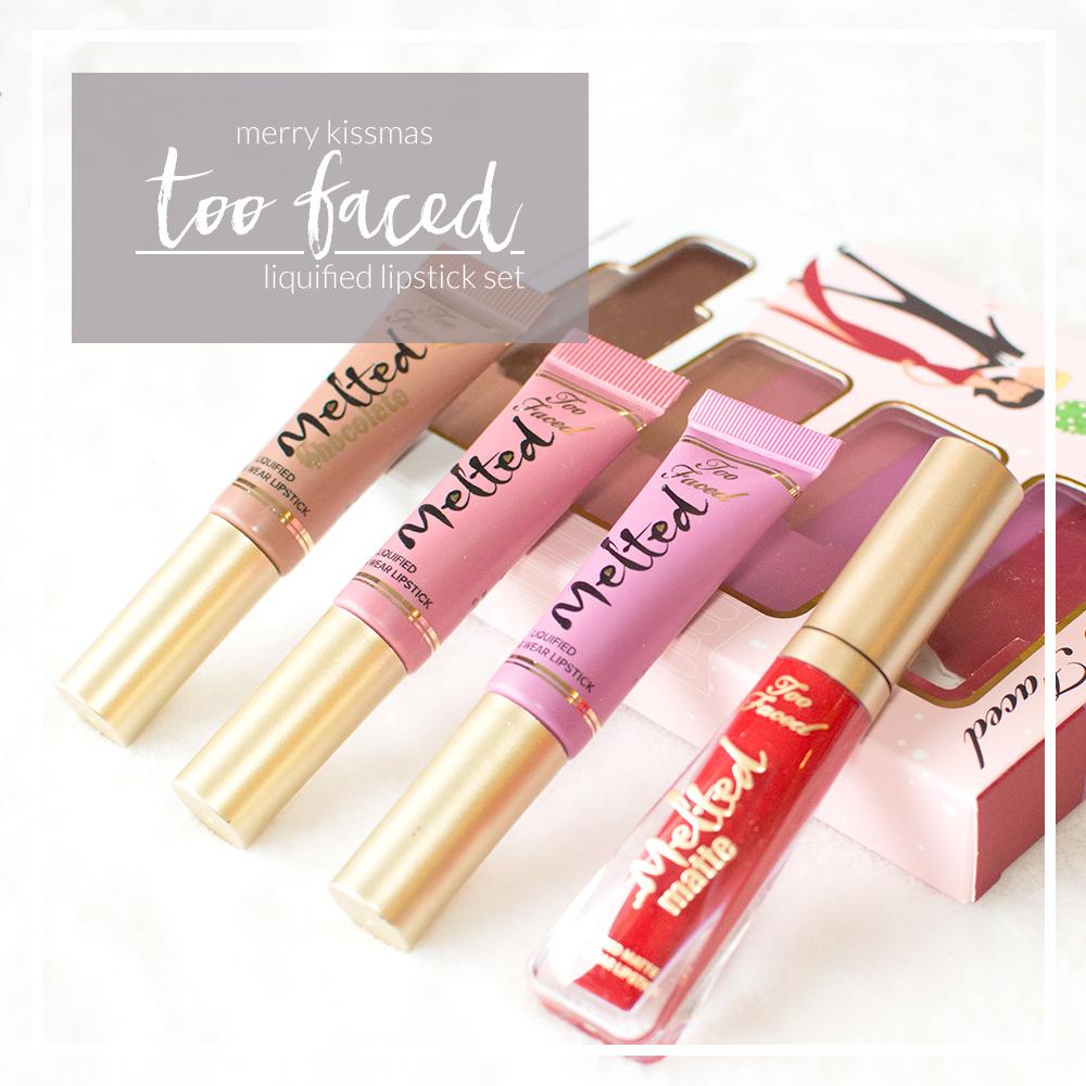 too faced merry kissmas liquified lipstick set