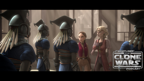 "Padmé and Satine begin their investigation into Mandalore's dirty politics in ""Corruption,"" an all-new episode of STAR WARS: THE CLONE WARS premiering at 9:00 p.m. ET/PT Friday, October 8 on Cartoon Network. TM & © 2010 Lucasfilm Ltd. All rights reserved."