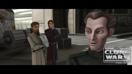 "Tarkin discusses exit strategy with Anakin and Obi-Wan in ""Citadel Rescue,"" an all-new episode of STAR WARS: THE CLONE WARS premiering at 8:30 p.m. ET/PT Friday, March 11 on Cartoon Network. TM & © 2011 Lucasfilm Ltd. All rights reserved."