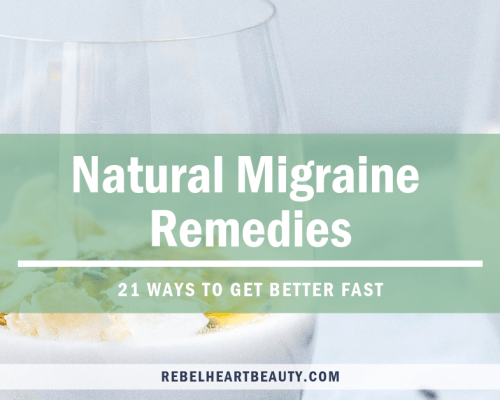 How to get rid of migraines, naturally. Don't let them keep you down all day! Get rid of migraines quick with these natural migraine remedies. #migraines #naturalremedies #holistichealth #healthyliving