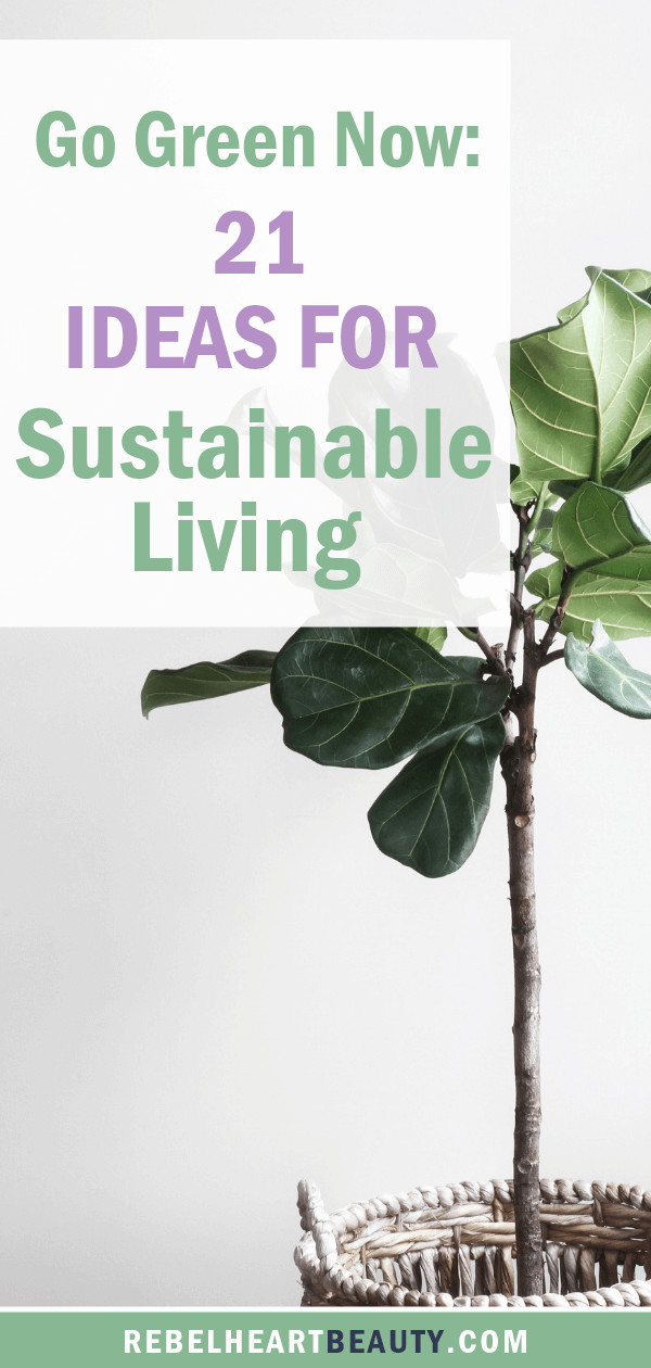 Sustainable living ideas for beginners to get started! Simple green living swaps that are eco-friendly and toxin-free. #sustainableliving #greenliving #toxinfree
