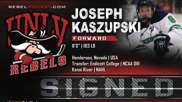 Image result for photo of joseph kaszupski, UNLV Rebels hockey