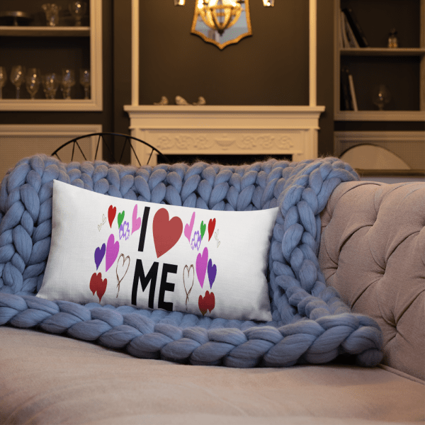 all over print pillow i love me
