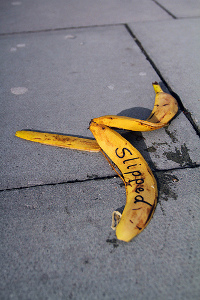 Banana slipped