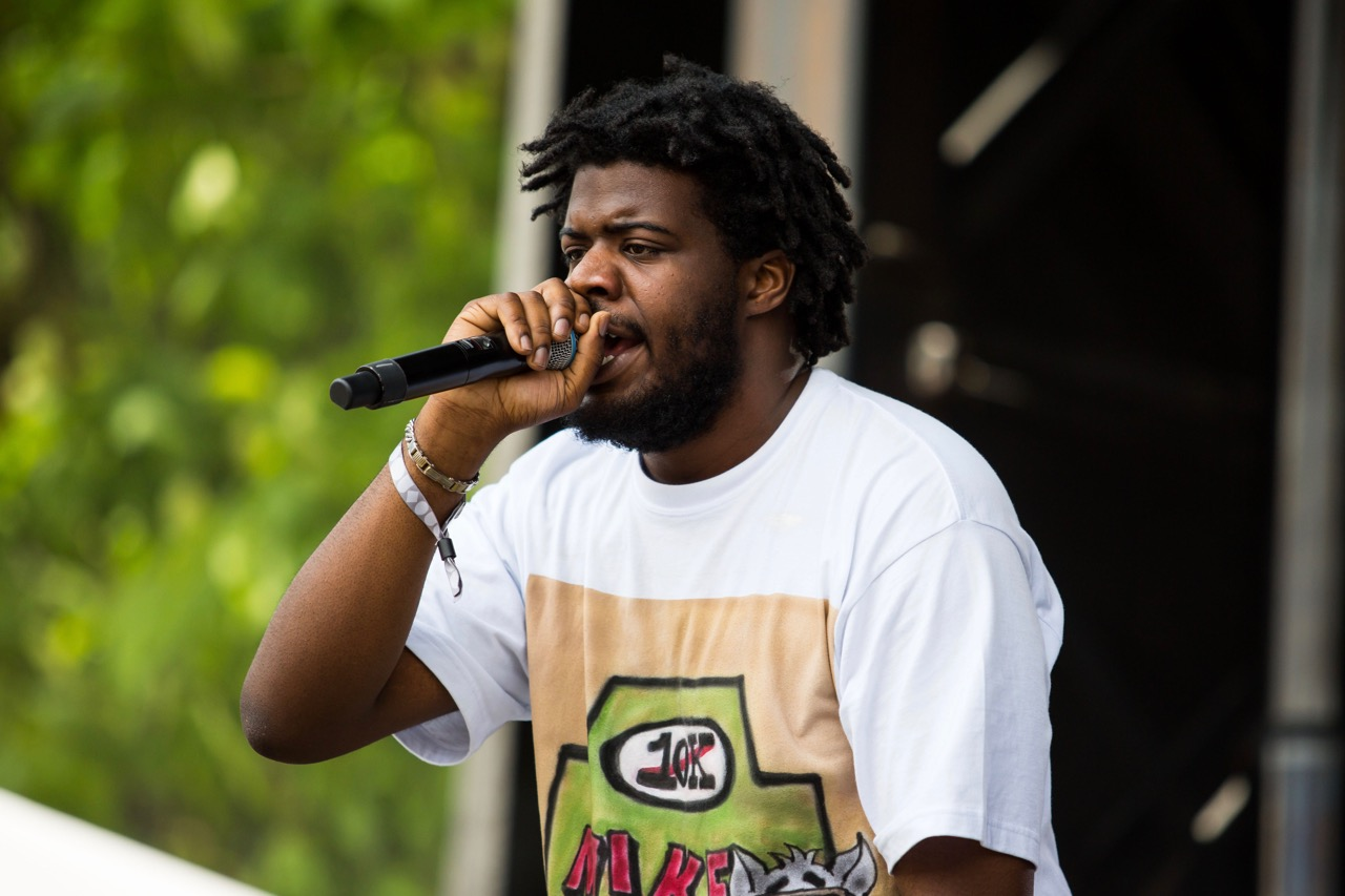 Mike performing at Pitchfork Music Festival on Friday, July 19, 2019