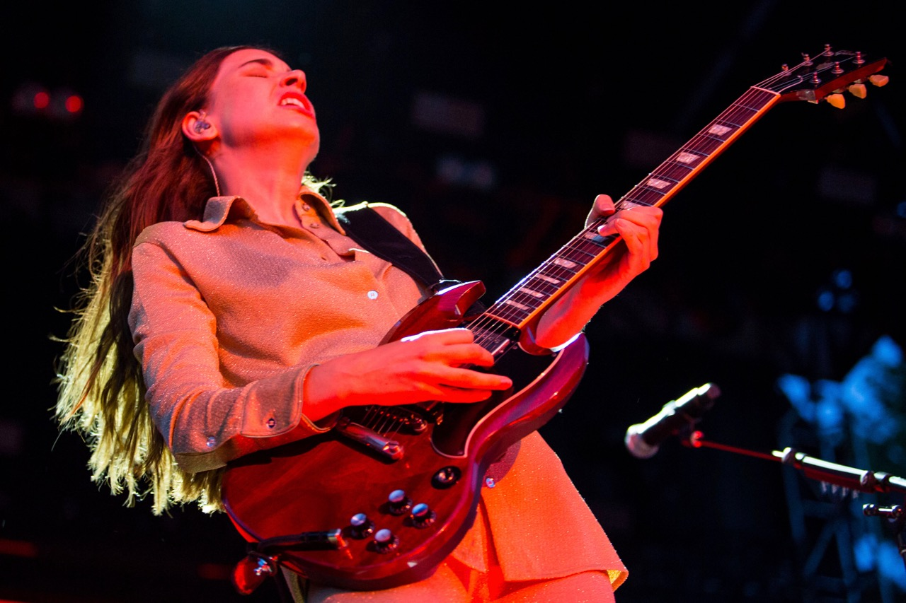 Haim performing at Pitchfork Music Festival on Friday, July 19, 2019