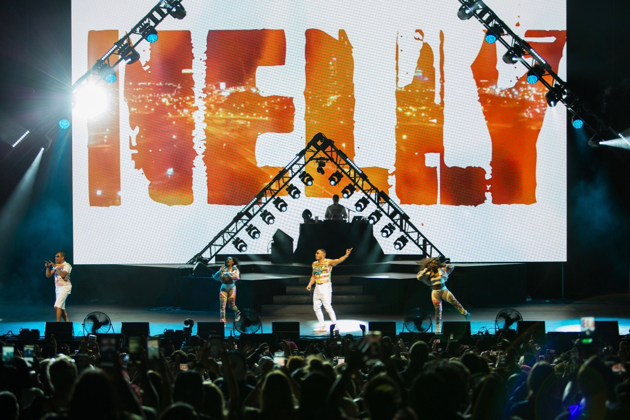 Nelly performs at the Hollywood Casino Amphitheatre in Tinley Park on Aug. 18, 2019.