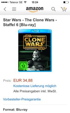 CW S6 DVD/Blu-Ray på Amazon.de