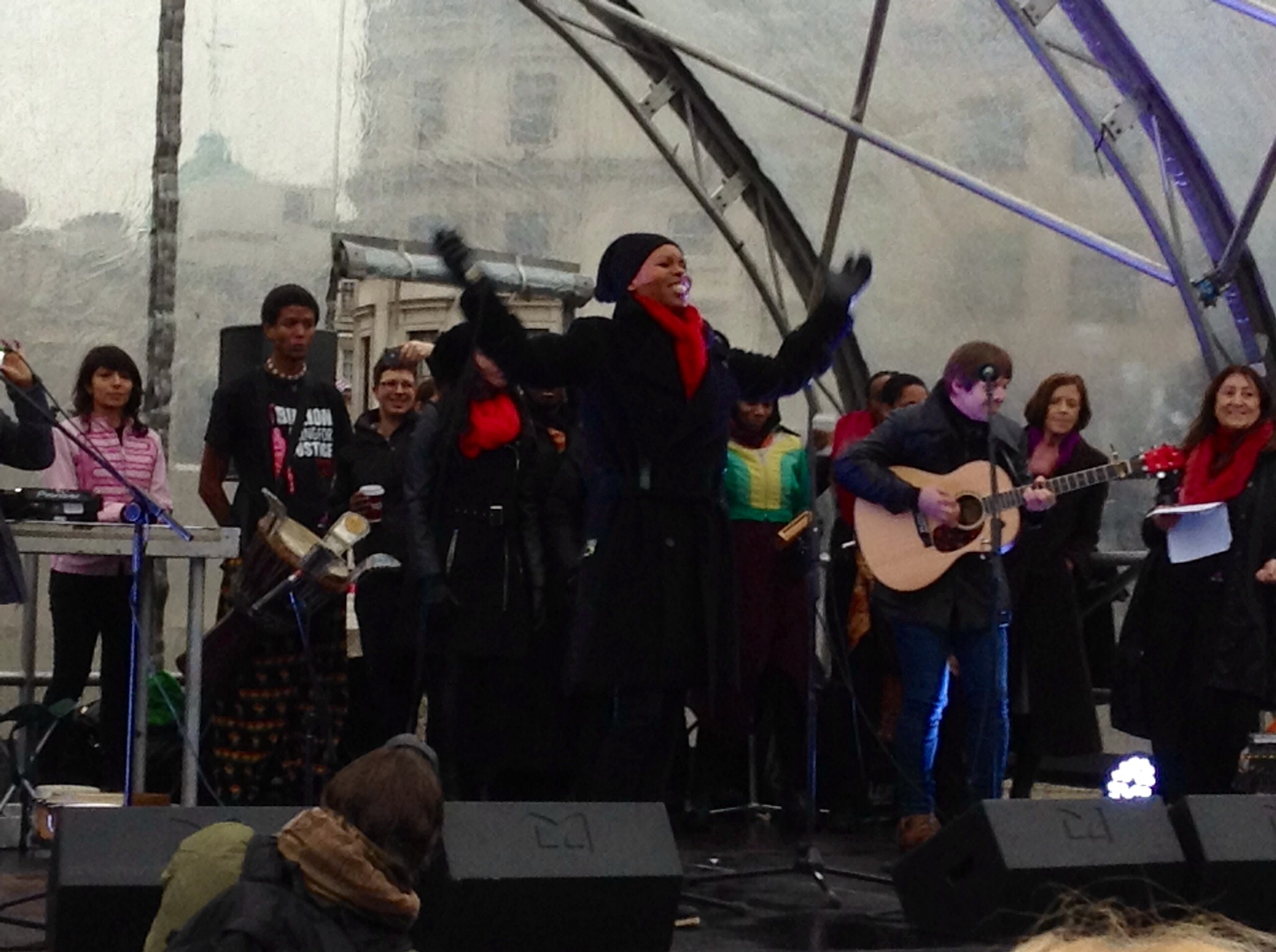 Skin of Skunk Anansie supports + performs live for 1 Billion Rising UK in London