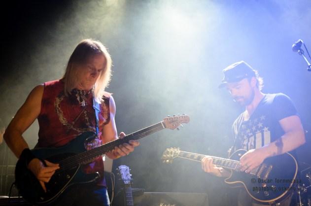 Steve Morse and Case McPherson - Flying Colors live in London Photo © 2014 Oscar Tornincasa for www.rebelmusic.info