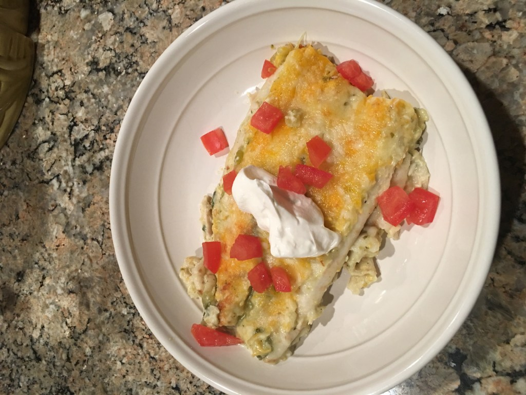 Salsa Verde Chicken Enchiladas