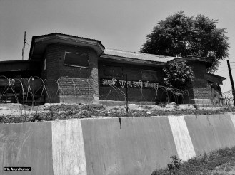 A CRPF military bunker which says ' Your Security is Our Responsibility', but reality is ' Our Security is Your Responsibility'. ( Location: Jawahar Nagar, Srinagar)