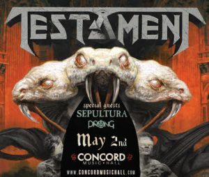 Testament concert poster