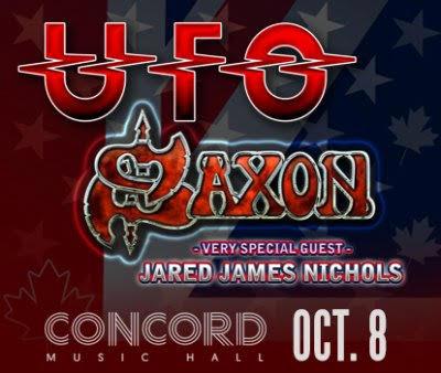 UFO, Saxon concert poster