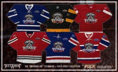 Testament hockey jerseys - multiple colors