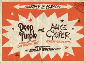 Deep Purple and Alice Cooper concert poster