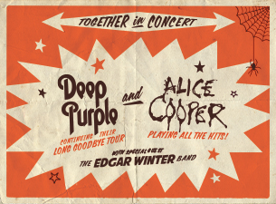 Deep Purple and Alice Cooper concert poster