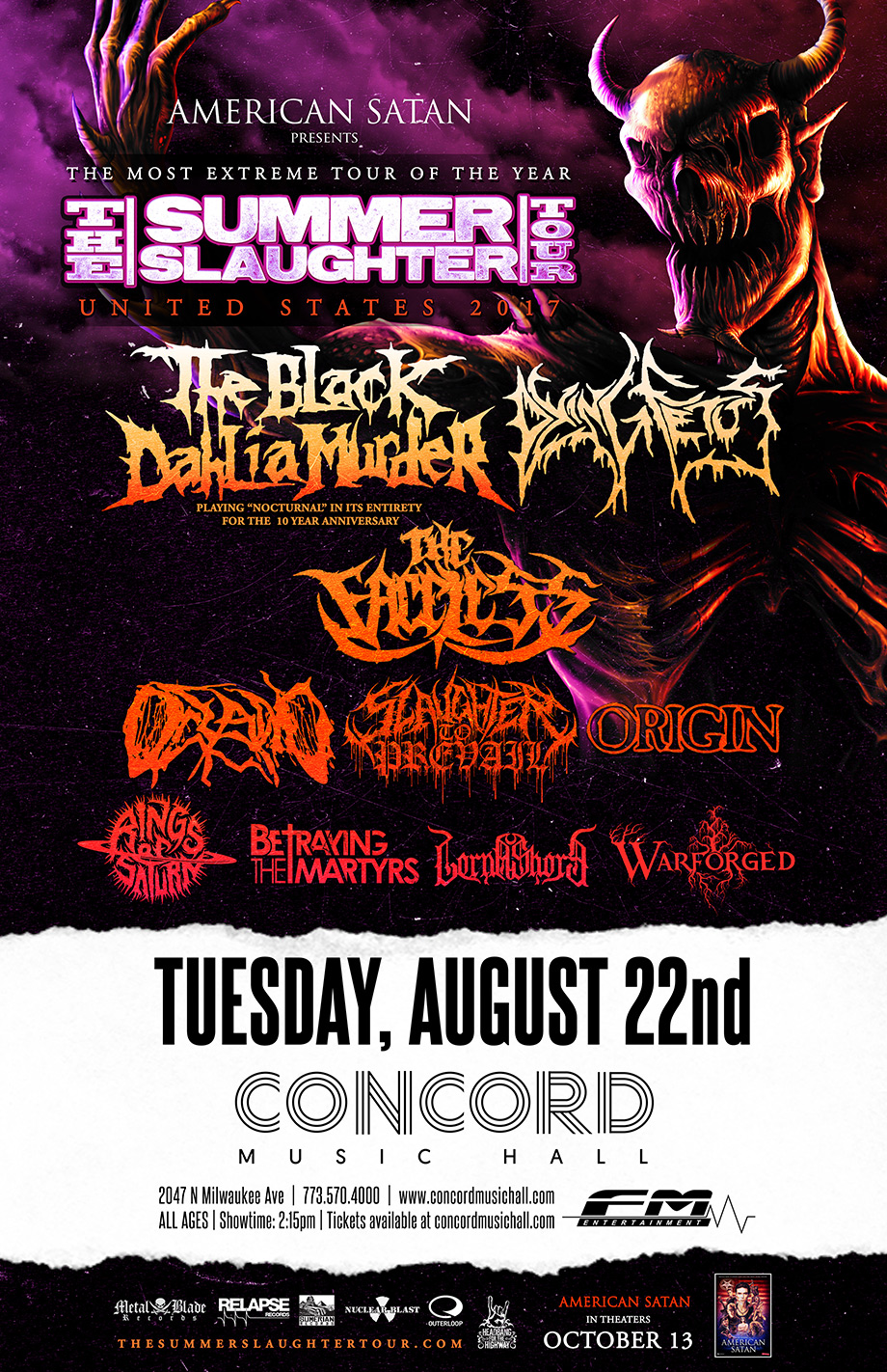 Summer Slaughter Tour poster