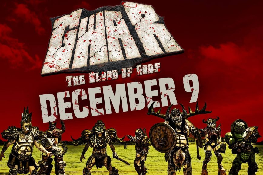 Gwar concert promo for December 9 in Peoria, IL
