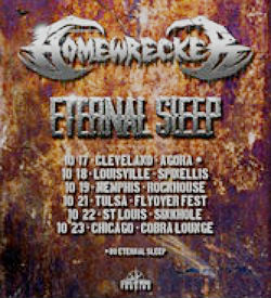 Homewrecker Eternal Sleep tour poster