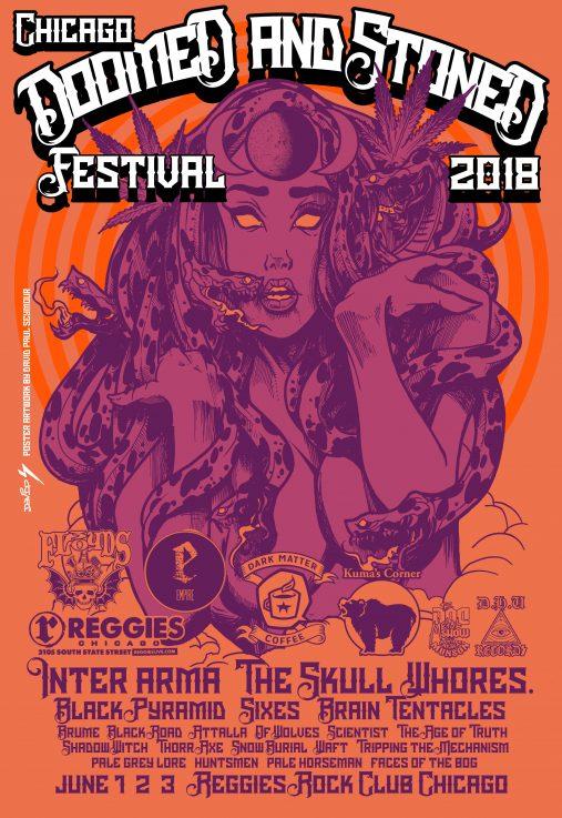 Chicago's Doomed & Stoned Festival, 2018 at Reggies June 1-3, 2018