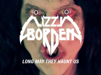 "Lizzy Borden album cover to ""Long May They Haunt Us"""